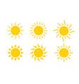 sun icon symbol sunlight design vector image vector image