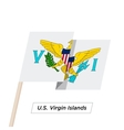 US Virgin Island Ribbon Waving Flag Isolated on vector image vector image
