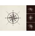 Wind rose collection vector image vector image