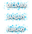 winter january february december banners vector image