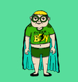 Young super hero boy cartoon and character vector image