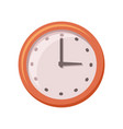 classic round wall clock with arrows vector image