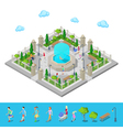 Isometric Park City Park Active People Outdoors vector image