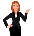 Young business woman isolated on a white backgroun vector image