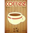 Template menu of coffee vector image