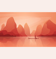 a marvelous landscape with river and mountains vector image vector image