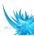 Abstract background with crystal virus vector image