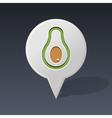 Avocado pin map icon Fruit vector image