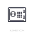 bank safe outline icon finances sign vector image vector image