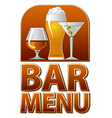 bar menu sign vector image