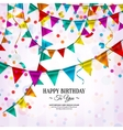 Birthday card with bunting flags vector image