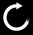 blurred white arrow in a circle vector image vector image
