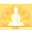 Buddha with lotus flower vector image vector image