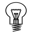 Bulb simple icon vector image