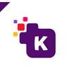 business corporate square letter k font logo vector image vector image