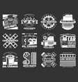 car service and auto parts monochrome icons vector image