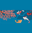 carp koi traditional sacred japanese fish vector image vector image