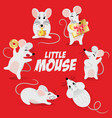 chinese new year symbol set - cute mouse with vector image