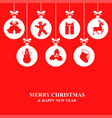 christmas card with decorative balls vector image vector image