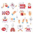 cigarette icon dangerous from smoke cigarettes vector image