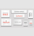 cloth labels for apparel premium brand white tags vector image