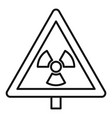 danger zone caution icon outline style vector image vector image