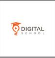 digital school logo media education logo