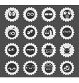 emotions and glances icons vector image vector image
