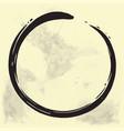 enso zen circle brush vector image