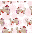 fashion dog pattern vector image vector image