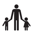 father and kids father son and daughter vector image vector image