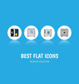 flat icon strongbox set of locked strongbox vector image vector image