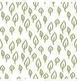 foliage line seamless pattern vector image vector image