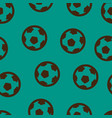 football ball pattern seamless vector image
