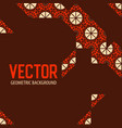 geometric tiles decoration background vector image vector image