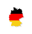 Germany flag map with shadow effect vector image vector image
