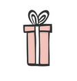 gift icon pink tall and long present box with vector image vector image