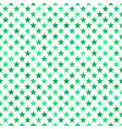 green seamless pentagram star pattern background vector image
