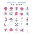 halloween icon dusky flat color - vintage 25 icon vector image