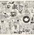 hand-drawn seamless pattern on theme tea vector image