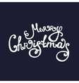 Handdrawn Christmas lettering vector image