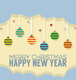 Happy New Year Card Vintage Style vector image vector image