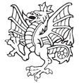 heraldic dragon No3 vector image vector image