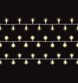 holiday lights garlands horizon seamless vector image