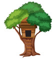 isolated tree house on white background vector image