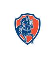 Jockey Horse Racing Shield Retro vector image vector image
