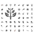 leaf icon spring icon set vector image
