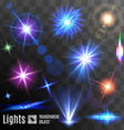 Lens flares and sparks vector image vector image