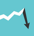 long growth abrupt drop vector image vector image