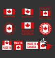 made in canada icon set canadian product labels vector image vector image